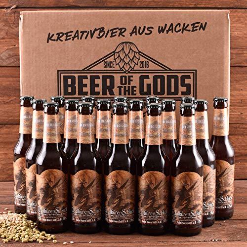 WACKEN BRAUEREI Strong Ale Craft Beer Box 18 x 0,33 l Flasche | WALKÜRENSCHLUCK | Viking Craftbeer...
