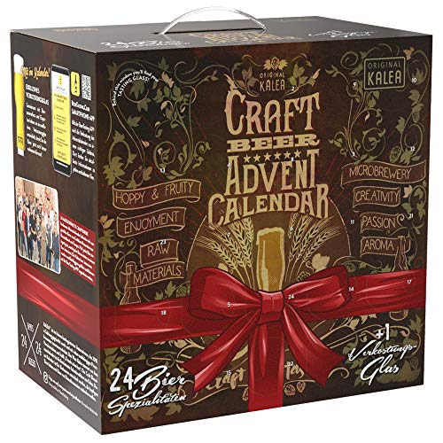 Kalea Craft Bier Adventskalender 2020   24 x 0,33 l Craft Beer   Geschenkidee zur Vorweihnachtszeit...
