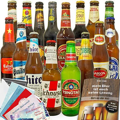 Biere der Welt / 16er Bier Geschenkset/Geburtstagsgeschenk für Ihn